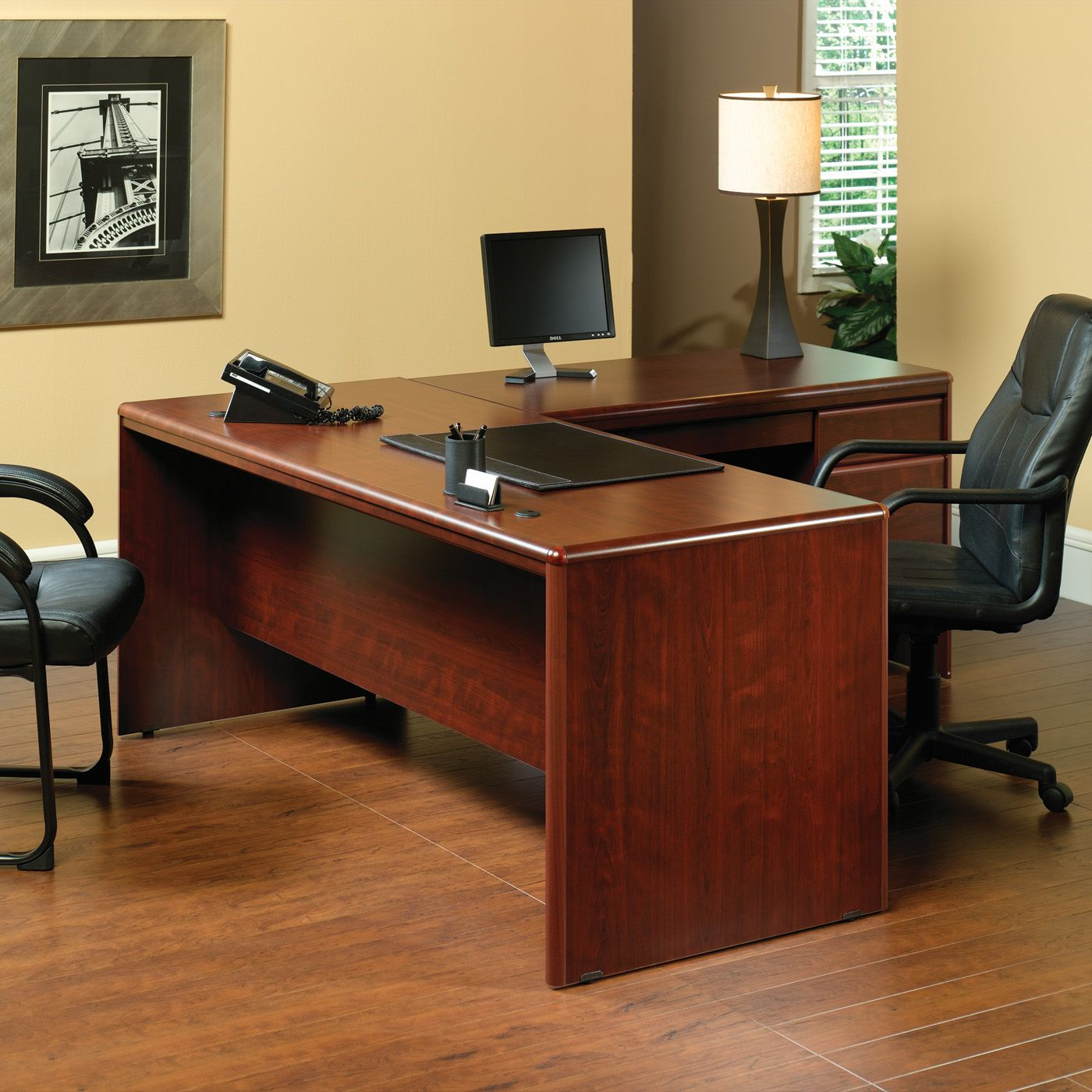 Shop Sauder Cornerstone L Shaped Executive Desk at ATG Stores
