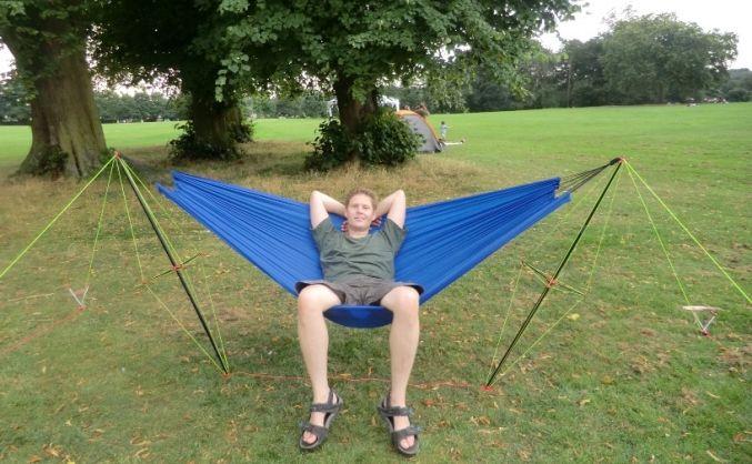 blue diy eno hammock stand designs for outdoor camping organization ideas   eno hammock hammock stand and      rh   pinterest