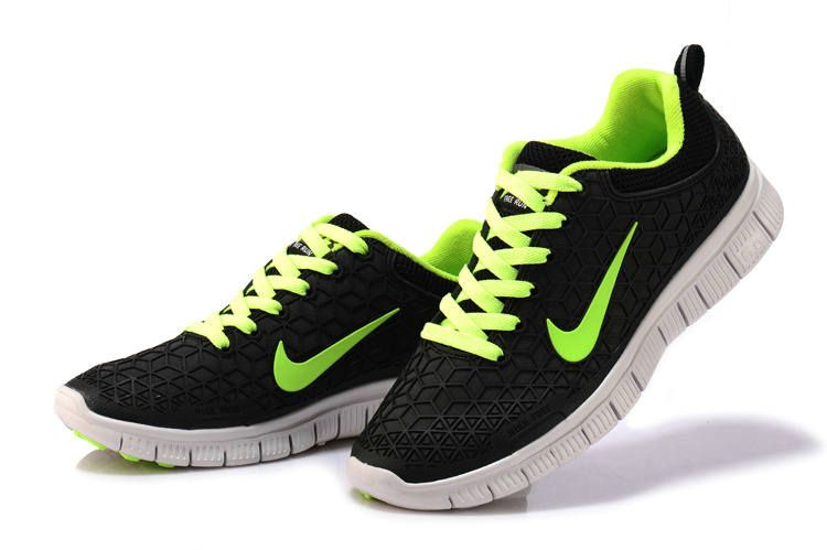 020edeb7ba7f NIKE 6.0 Free Run Kangaroo leather Shoes Black green Men Women ...