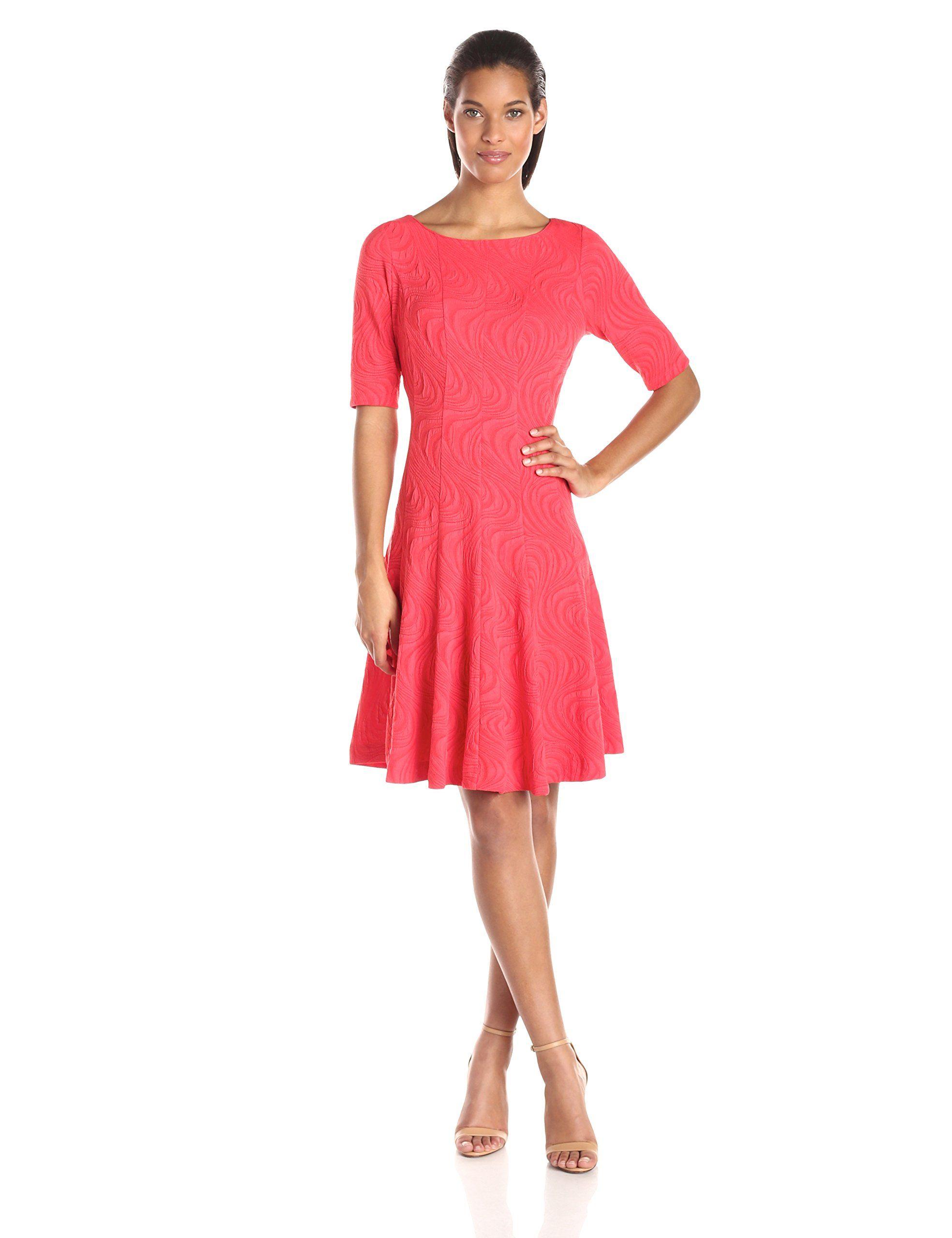 b0748d9f6169 Julian Taylor Women's Short-Sleeve Flare Dress at Amazon Women's Clothing  store: