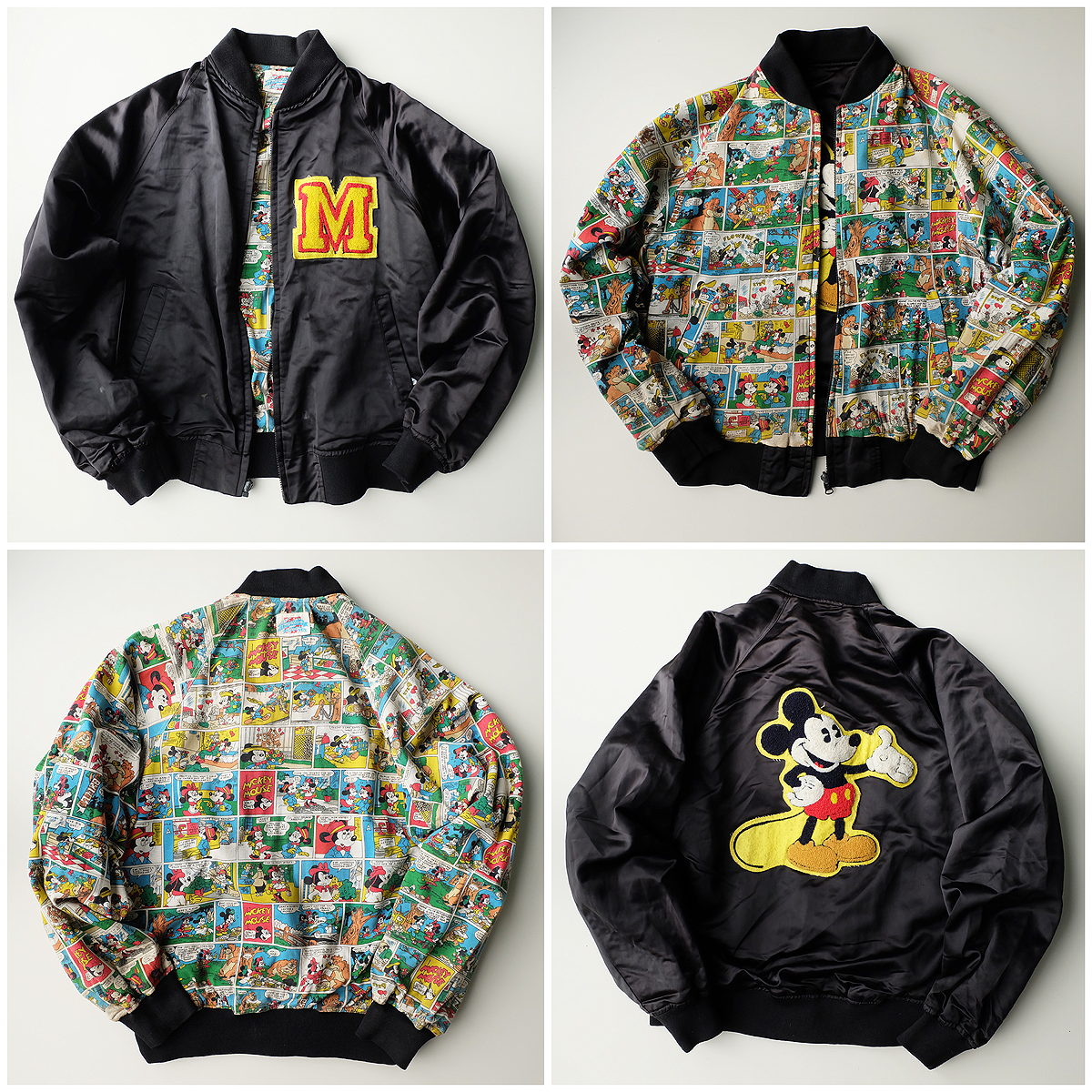 Vintage Mickey Mouse Comics Sukajan Souvenir Reversible Jacket Jackets Vintage Mickey Reversible Jackets [ 1200 x 1200 Pixel ]