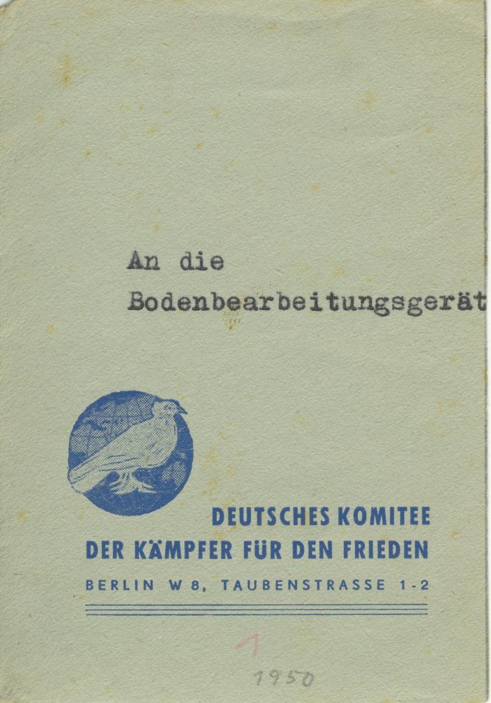 Berlin Deutsches Friedens Komite
