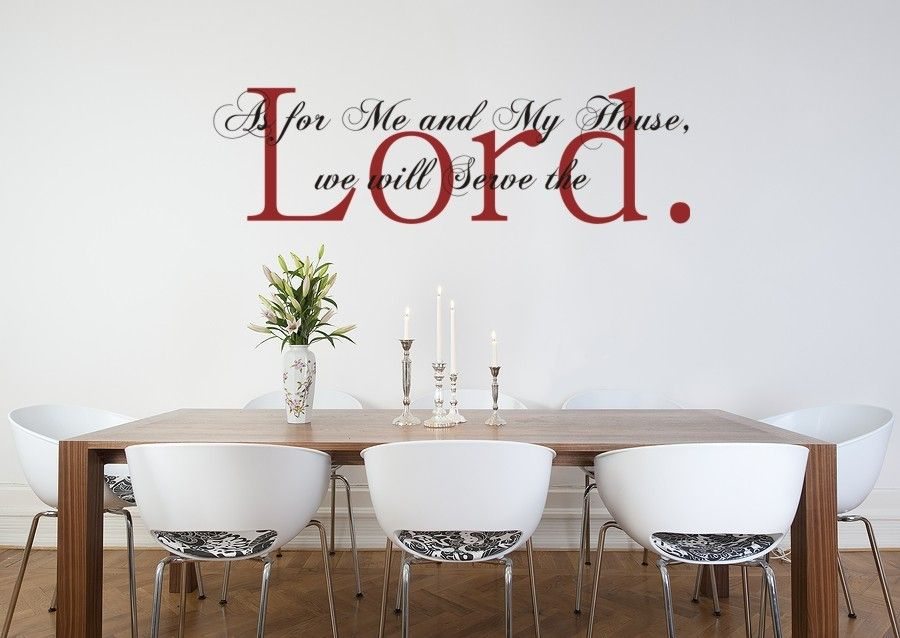 Vinyl Wall Art Decal Sticker As For Me And My House Joshua 24:15 Bible  Verse Style 1