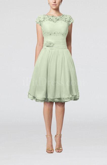 Sage Green Bridesmaids Dresses Knee Lenght