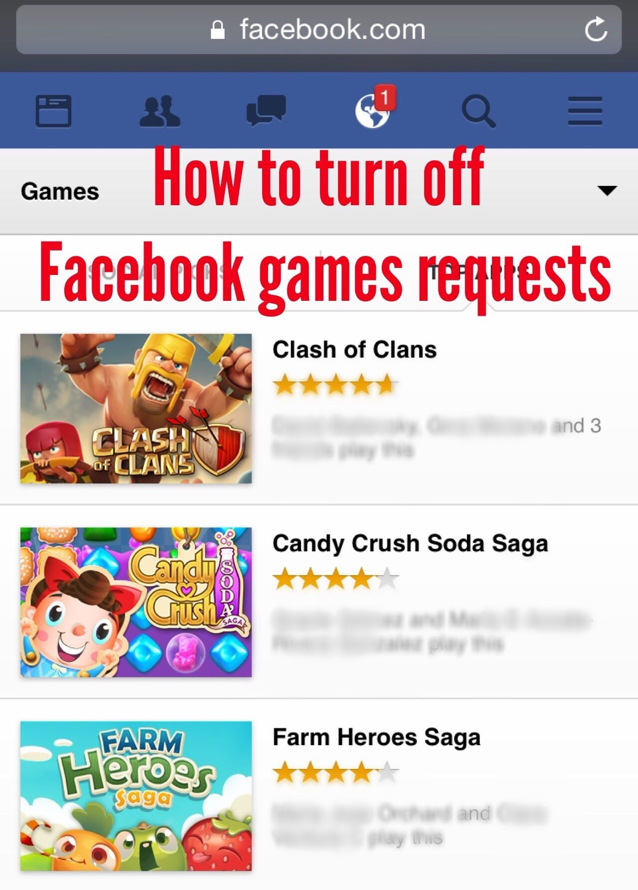 How to turn off Facebook games requests in seconds