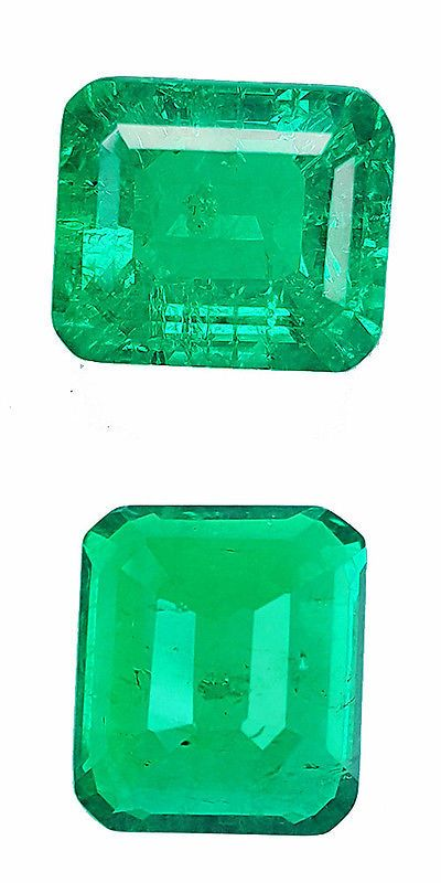 Lab-Created Emeralds 122956: 6.50 Ct Nice Octagon Shape Lab Created Biron Chrome Top Green Color Gemstone BUY IT NOW ONLY: $169.0
