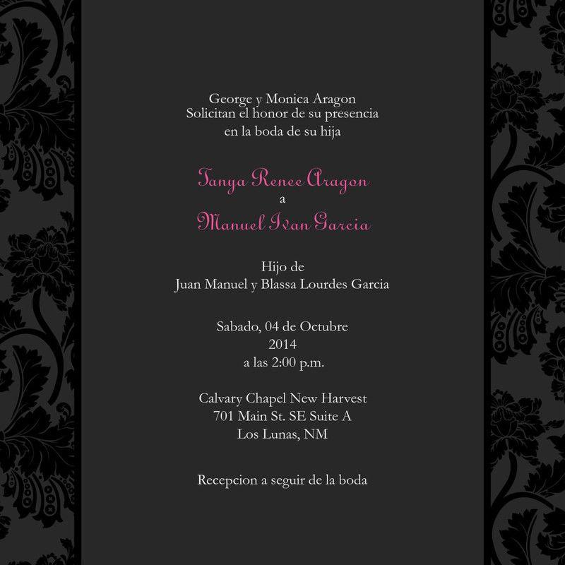 Wedding Invitation In Spanish Wording: Wedding Invitation In Spanish