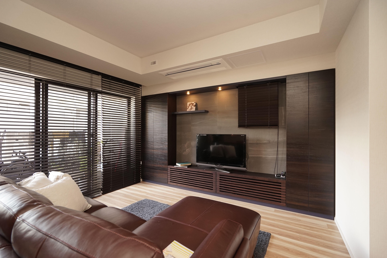 壁面収納 オーダー エコカラット リビング インテリア 壁面収納 家具デザイン