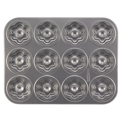 Cake Boss 2 Piece Heart and Flower Cookie Pan, Gray