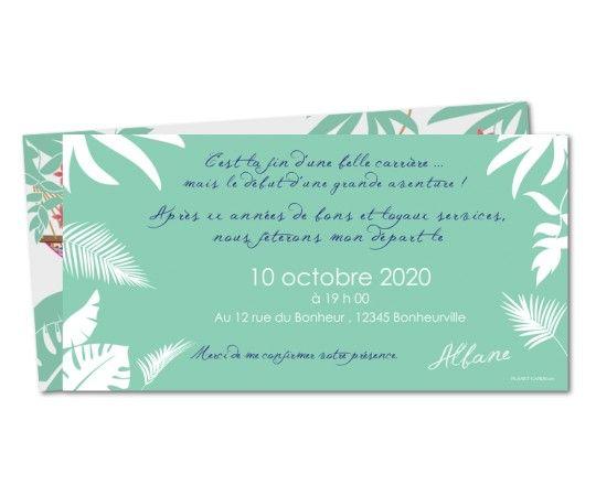 invitation depart a la retraite hamac