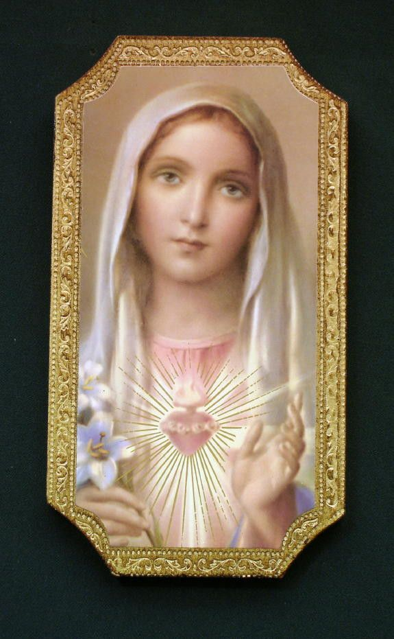 Immaculate Heart of Mary Florentine Icon Plaque