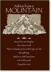 Birthday card you rock advice form a mountain your true birthday card you rock advice form a mountain your true nature bookmarktalkfo Gallery