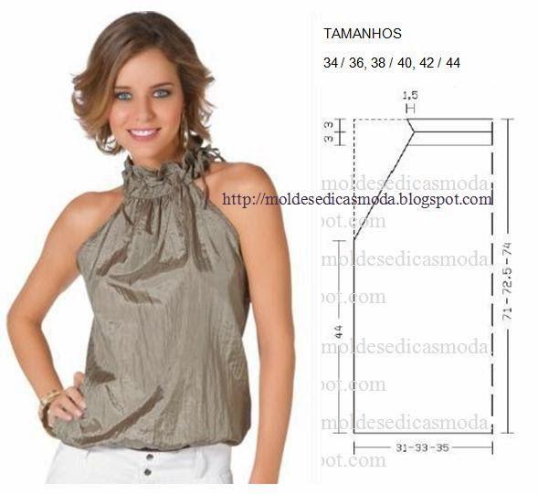 0c75c394b75 Moldes para hacer blusas bonitas para mujer04 | chuches | Patrones ...