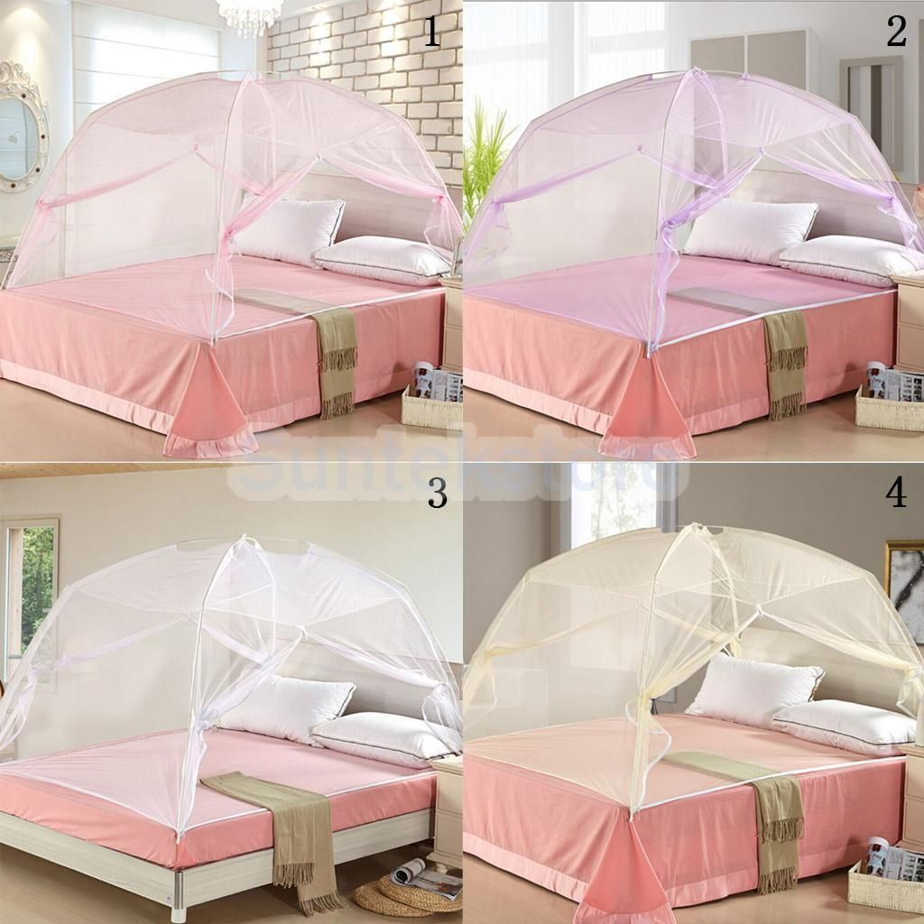 Outdoor Freestand Bed Canopy Mosquito Net Netting Tent For