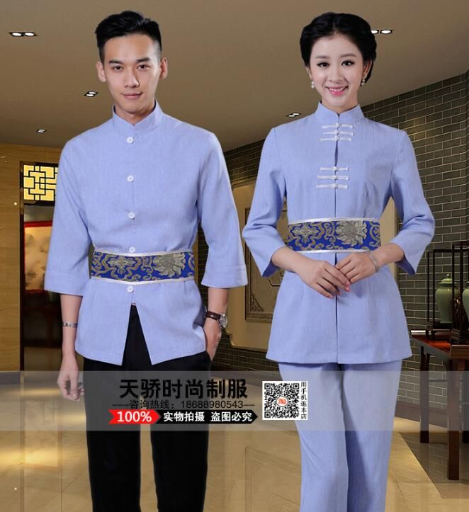 Woman receptionist uniforms restaurant staff uniforms for Uniform thai spa