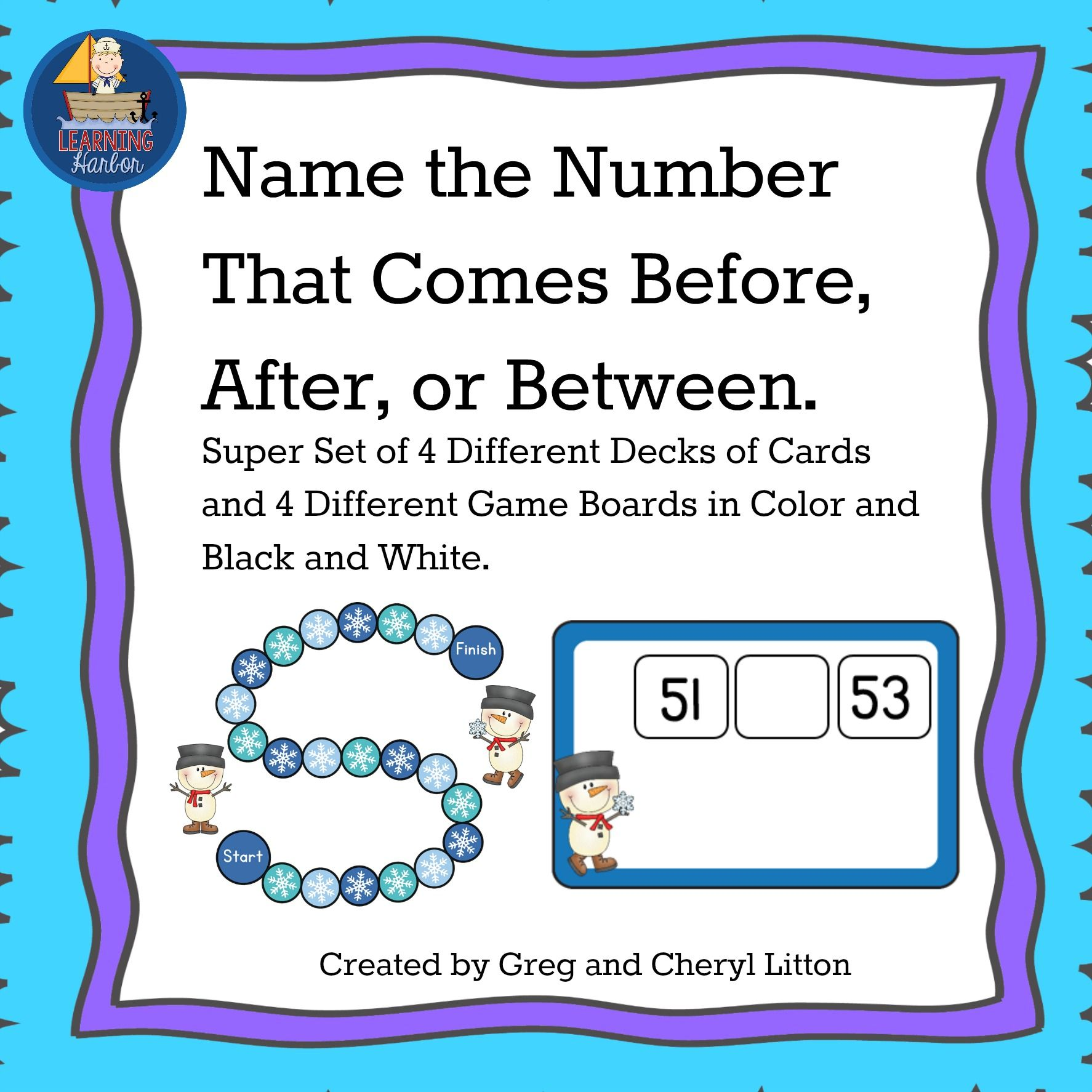 Board Game Math Center Find The Number Before After Or