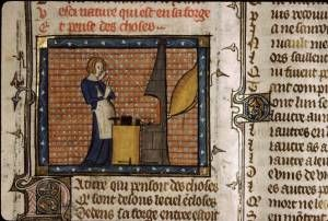Nature at the forge, ms bodl 264, 1350-80