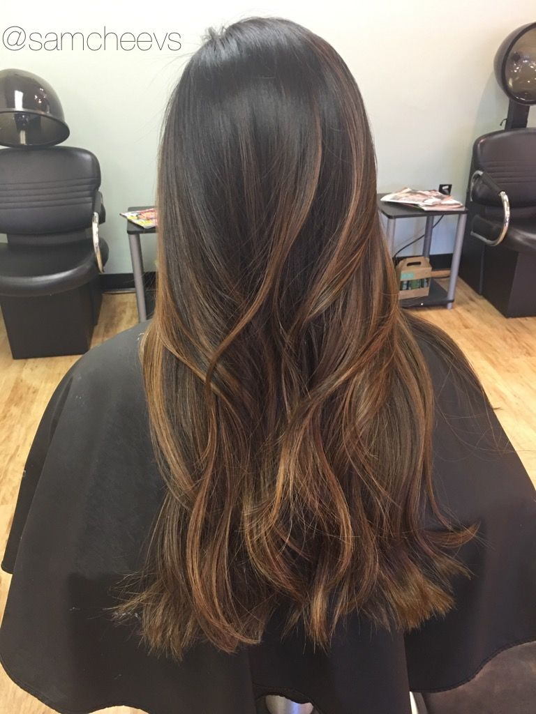 Brown Subtle to caramel ombre video pictures