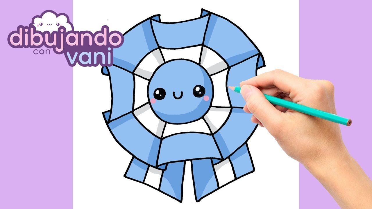 Como Dibujar Escarapela Argentina Kawaii Dibujos Imagenes
