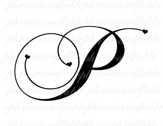 Buchstaben P Herzen 286 Digitaler Download Von Phraseandfable