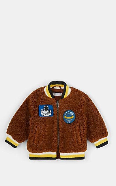 Stella McCartney Infants' Space-Patch Sherpa Varsity Jacket #varsityjacketoutfit