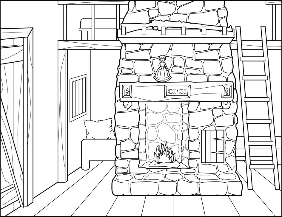 Little House On The Prairie Inside Coloring Page Coloring Pages House Colouring Pages Little House