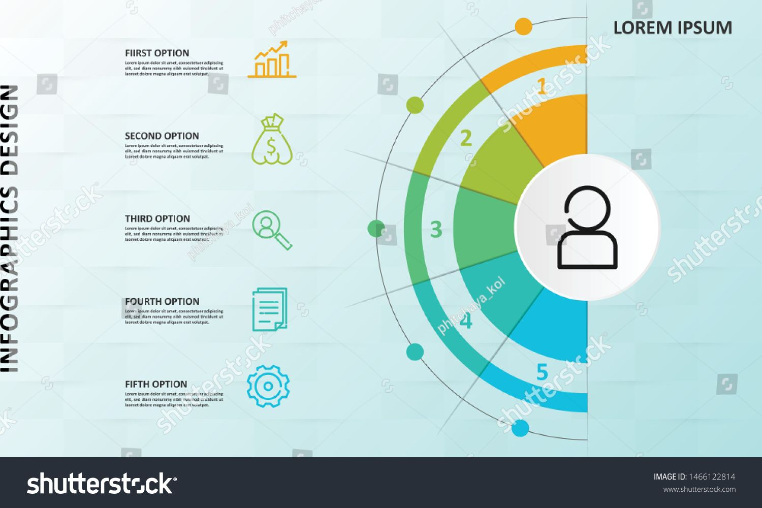 Circular business infographic element n be used for step workflow diagram banner process business presentation template web design price list timeline report
