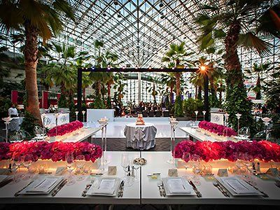 Crystal Garden At The Navy Pier Chicago Wedding Venues Locations Downtown Event Center 60611
