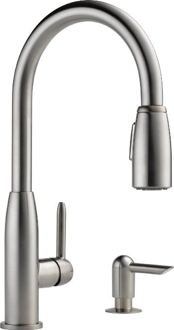 White Kitchen Faucet With Separate Sprayer