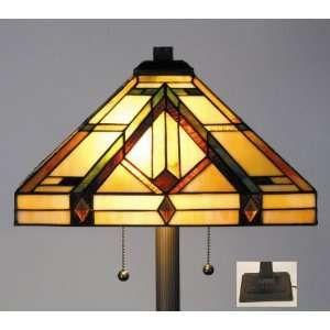 Estilo Tiffany Stained Glass Floor Lamp