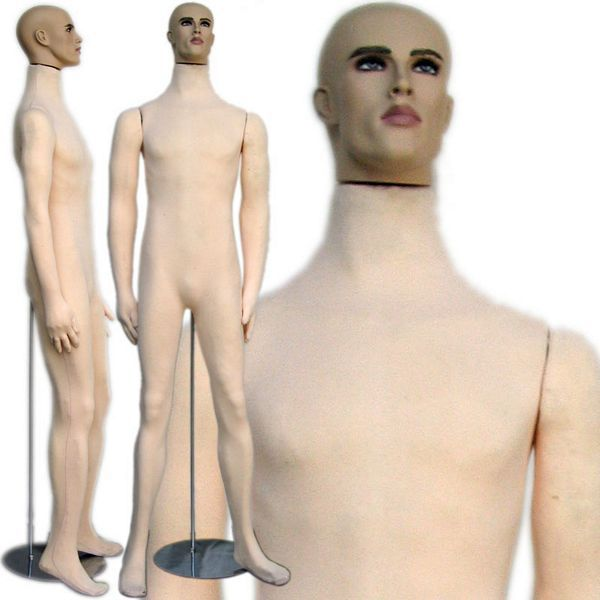 Bendable Male Cloth Mannequin with Realistic Head Occult and Collage - medical history forms