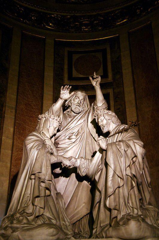 Paris église de la Madeleine sculpture le mariage de la Vierge par