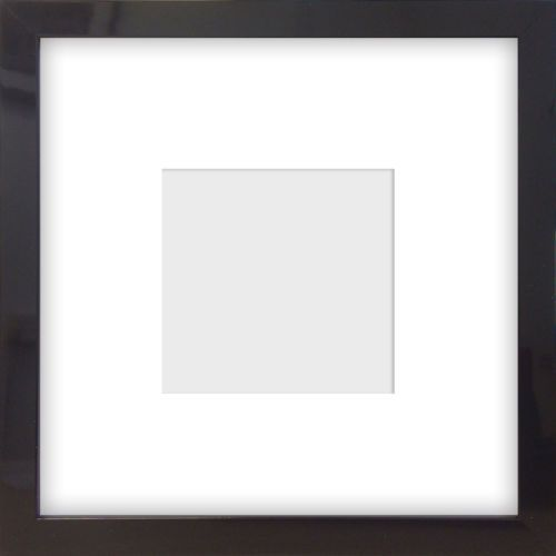 8x8 4x4 Square Modern Black Glossy Instagram Picture Photo Frame