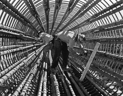 Rebar Cage Civil Engineering Ironworkers Blue Collar Worker