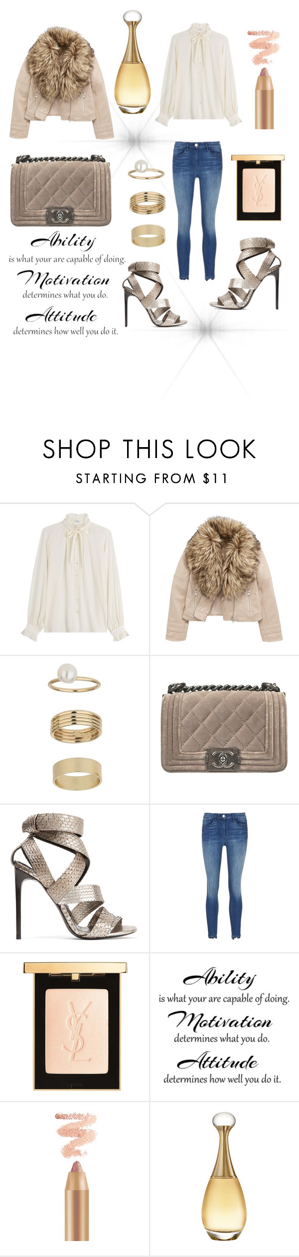 """Sans titre #440"" by giirly1994 ❤ liked on Polyvore featuring Closed, Miss Selfridge, Chanel, Tom Ford, Yves Saint Laurent and Christian Dior"