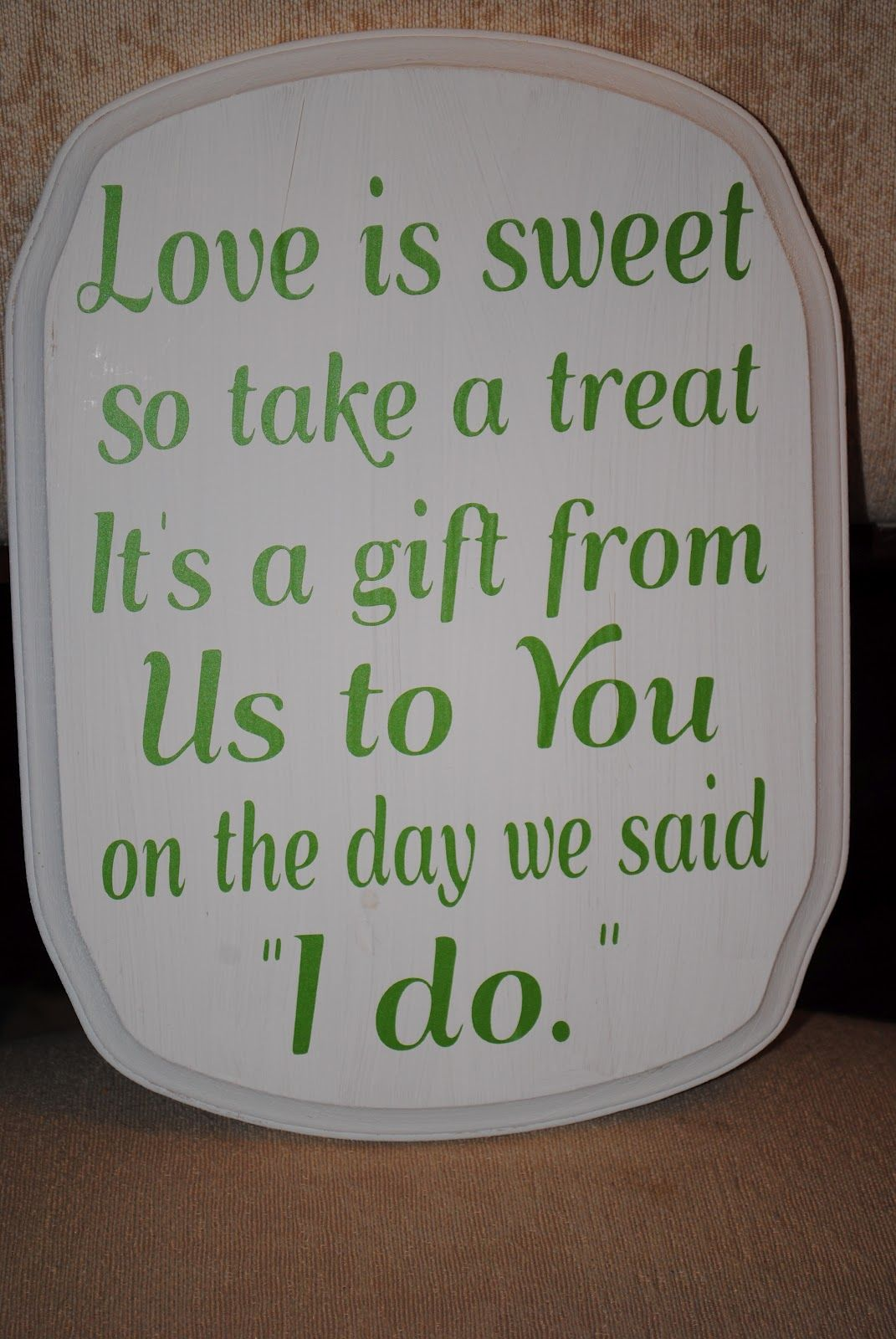 Wedding Candy Buffet Signs Another Small Sign For A Ring Bearer To Carry In