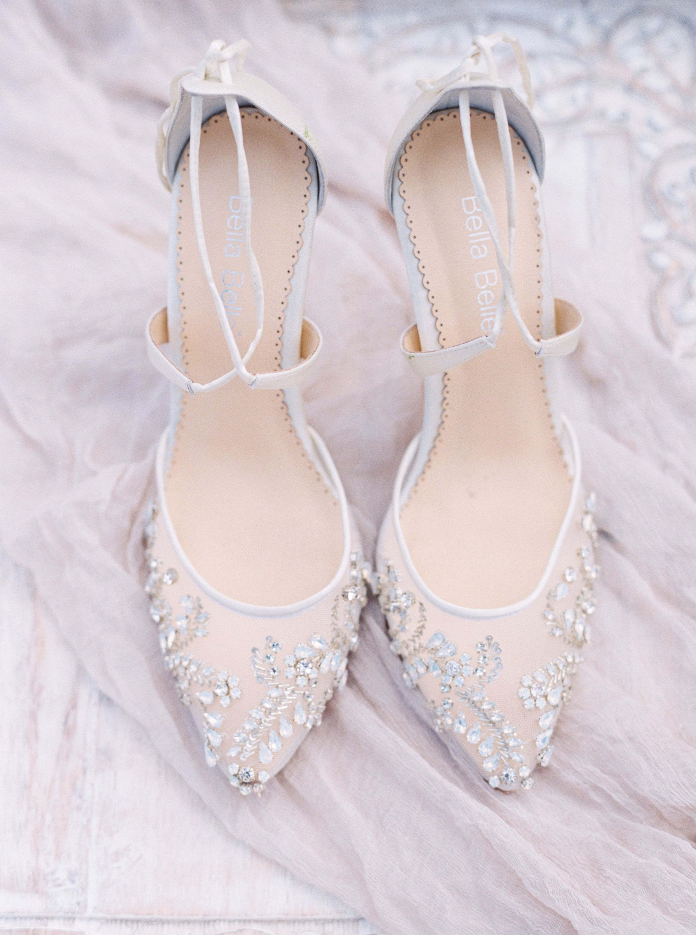 6ef6f7e788c0 Florence wedding heel with cross ankle strap and beautiful jewels by Bella  Belle Photographer  Jenna Mcelroy