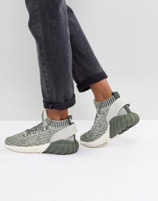 adidas originali tubulare doom sock formatori in verde pinterest