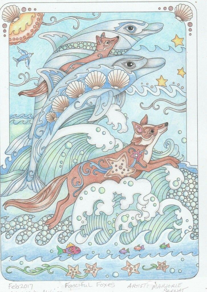Pin von Shandra Wiley auf Coloring Fanciful Foxes | Pinterest