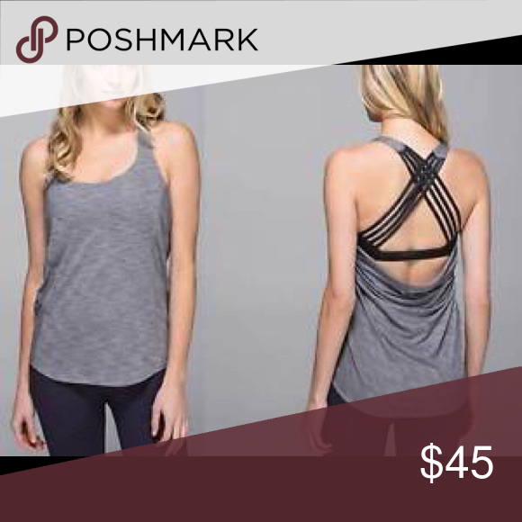 Lululemon backless top with built in bra Very good condition. Backless top lululemon athletica Tops