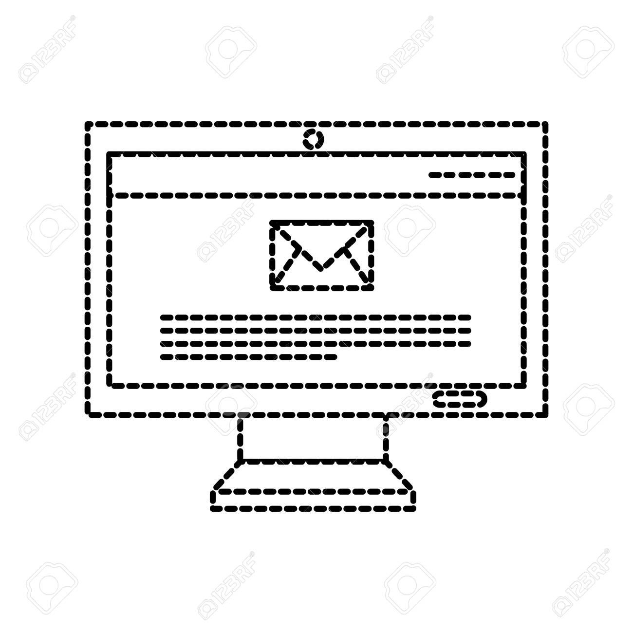 computer technology email message social media vector