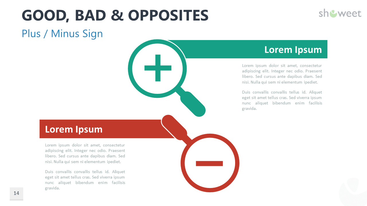 Good Bad And Opposites For Powerpoint And Google Slides Powerpoint Google Slides Make An Infographic