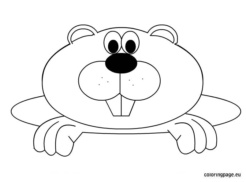 Free Groundhog Day coloring page | color pages | Pinterest | Día de ...