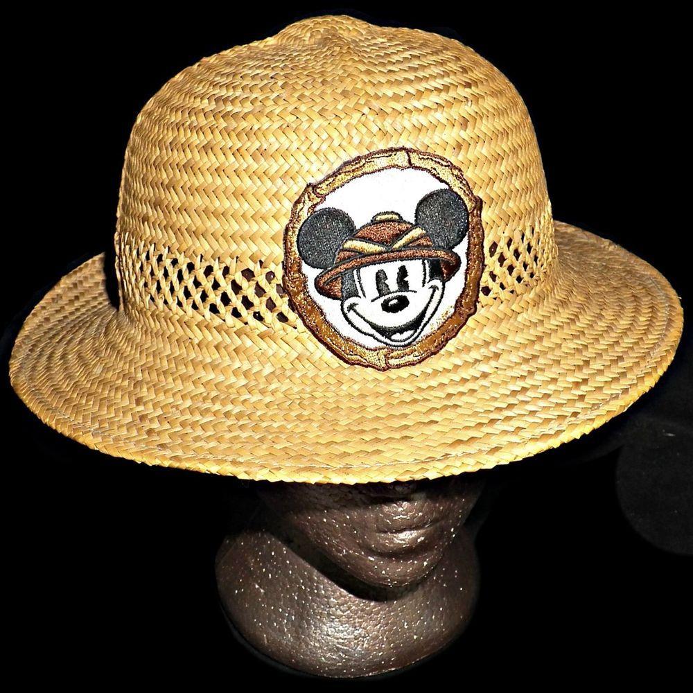 c416ba227e8f Disney Theme Parks Disneyland Mickey Mouse Straw Pith Helmet Sun Hat Golf  7-1/4 #DisneyParksMerchandise