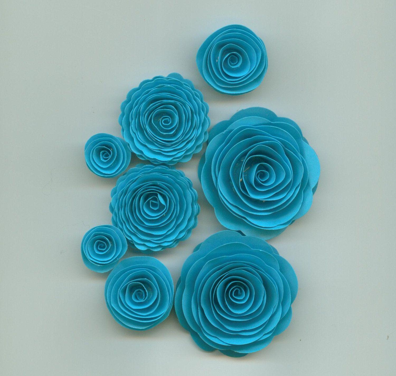Spiral Paper Flowers Paper Flowers Pinterest Spiral Flowers