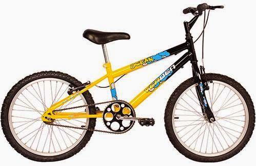 Bicicleta Verden Infantil Ocean Aro 20 Amarela, por R$ 287,91