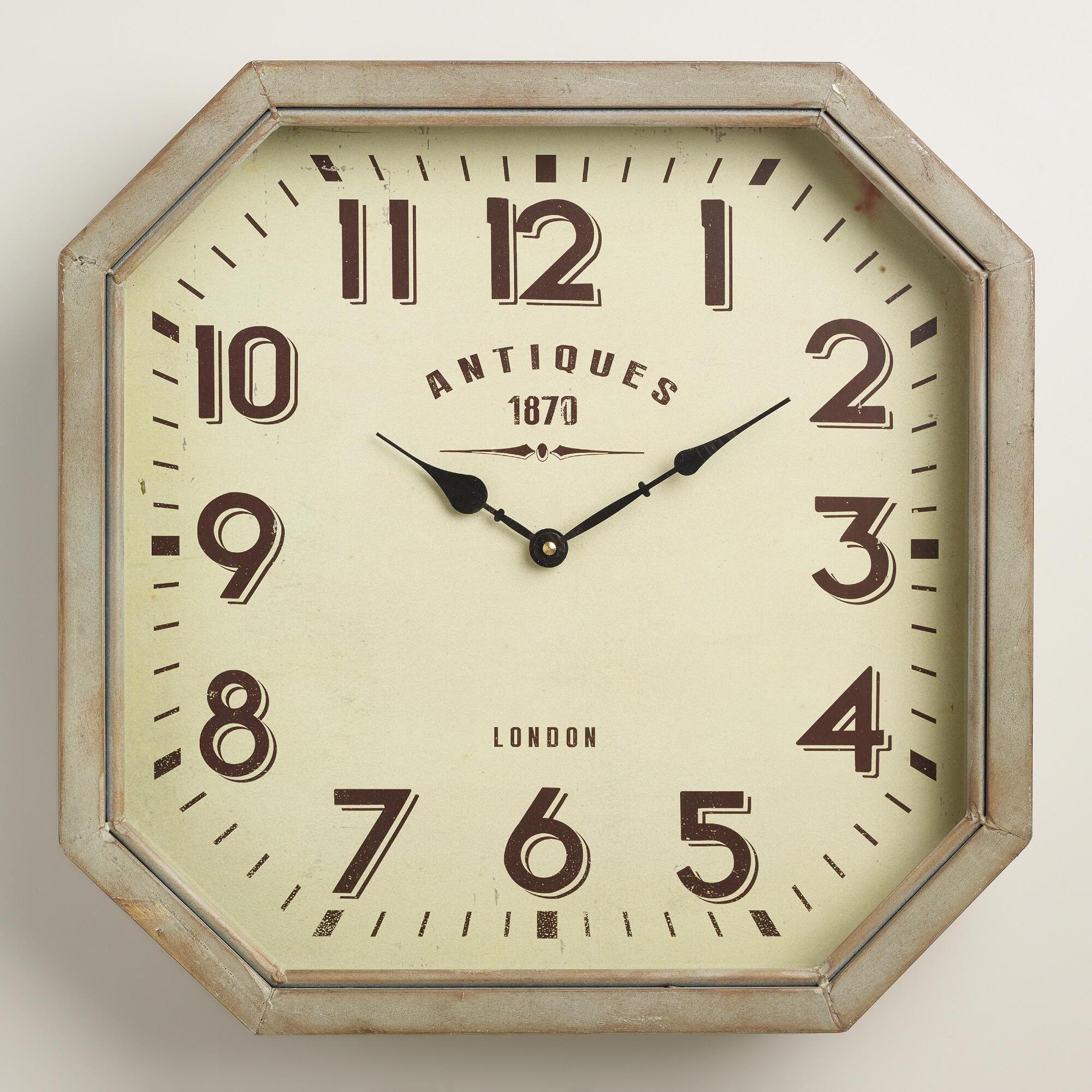 Hexagonal Metal Allston Wall Clock Metal Wall Clock Modern Wall Decor Wall Clock