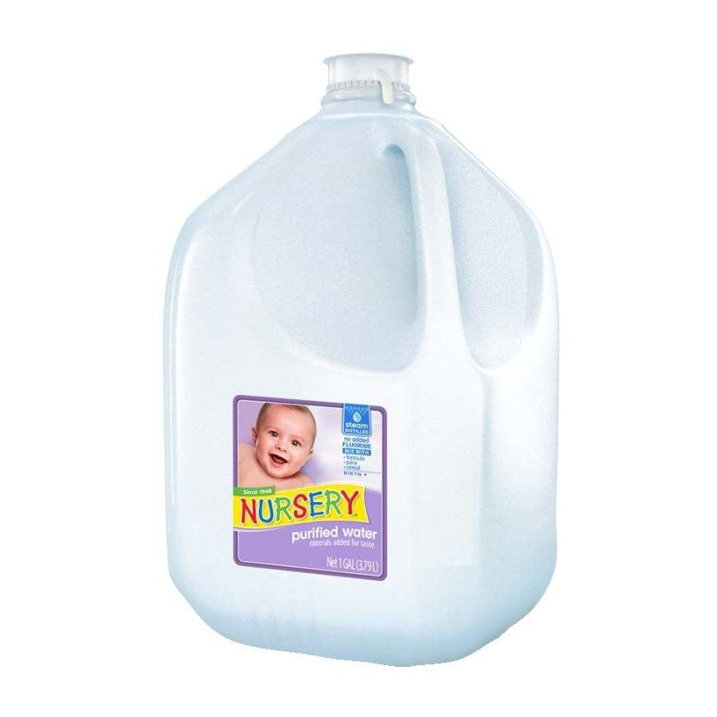 Nursery Water Without Added Fluoride Is A Purified Processed By Steam Distillation