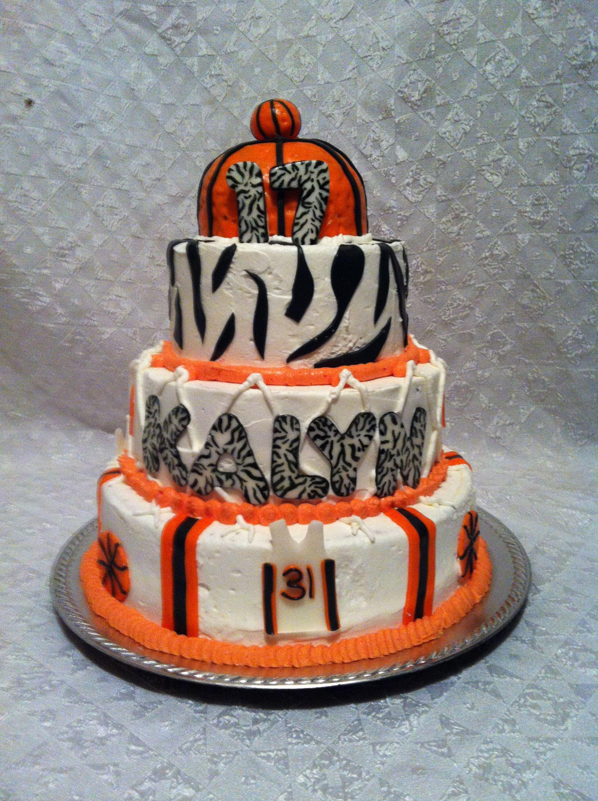 Basketball Zebra Print Cake Crazy Cakes Cake Zebra Print Cakes