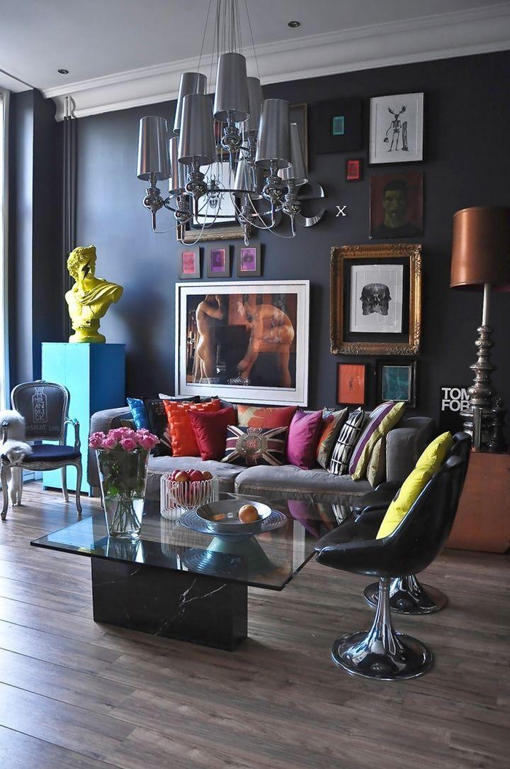 Art Deco Living Rooms For Small Urban Apartments Chic Interior Design Dark Living Rooms House Interior